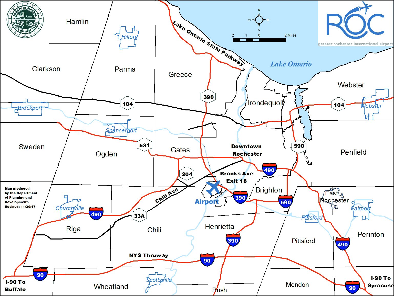 Map to ROC