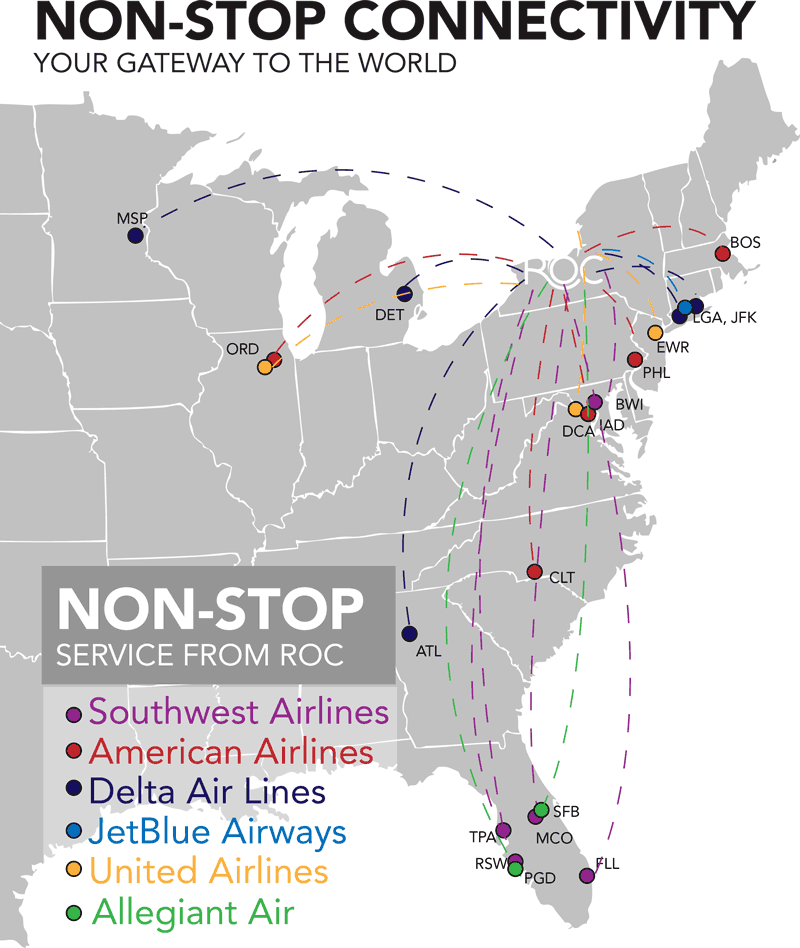 Non-Stop Connectivity Map